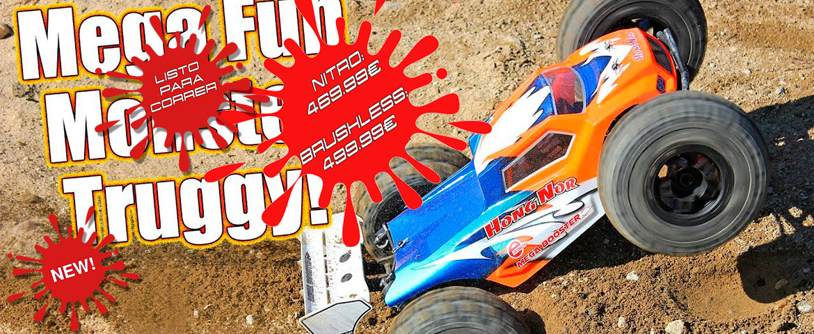 Truggy Mega Booster Hong Nor Nitro o brushless listo para correr