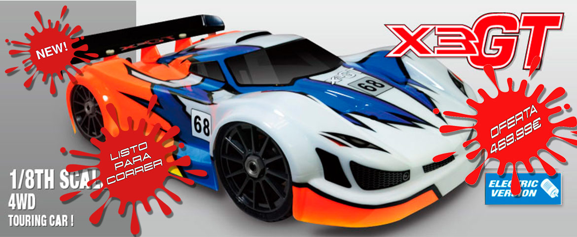 Hong Nor X3GT LISTO PARA CORRER con motor brushless