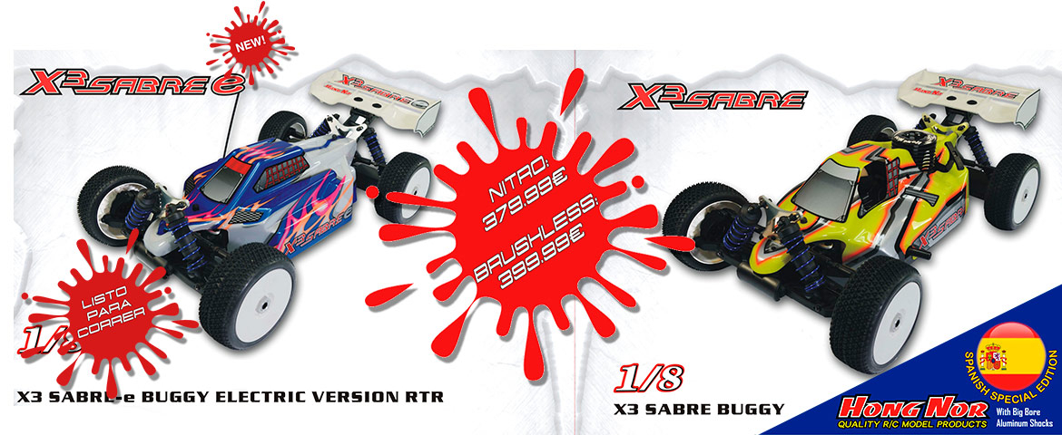 X3 SABRE BUGGY LISTO PARA CORRER - SPANISH VERSION-